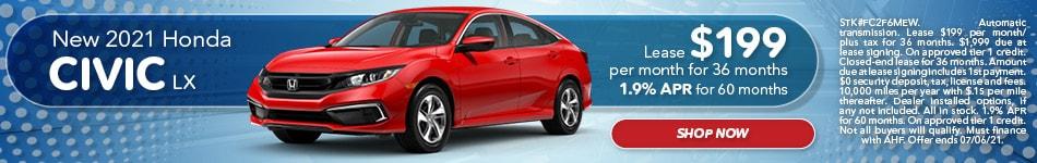 New 2021 Honda Civic LX