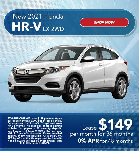 New 2021 Honda HR-V LX 2WD