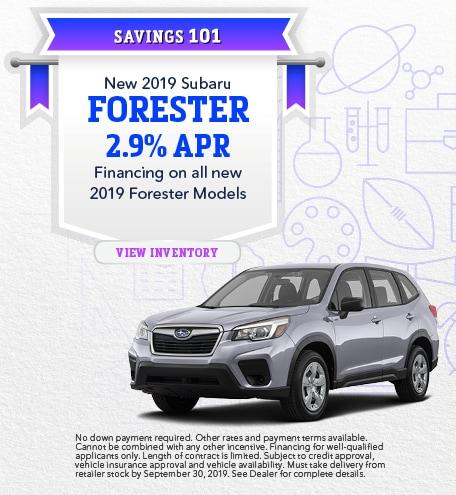 New 2019 Subaru Forester - Sept '19