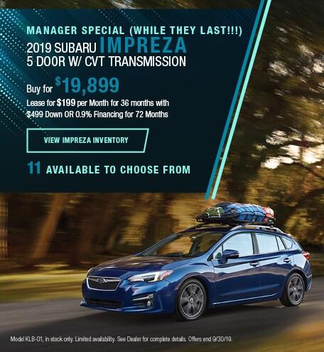 New 2019 Subaru Impreza - Sept '19 (Manager Special)