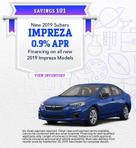 New 2019 Subaru Impreza - Sept '19