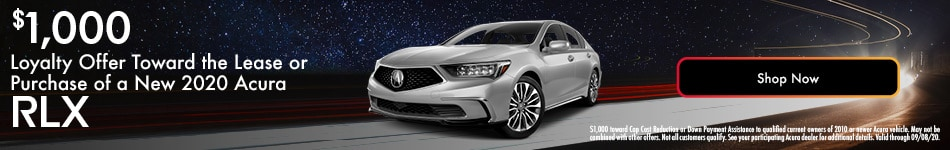 2020 Acura RLX Loyalty Offer - August 2020