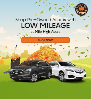Shop Pre-Owned Acuras with Low Mileage