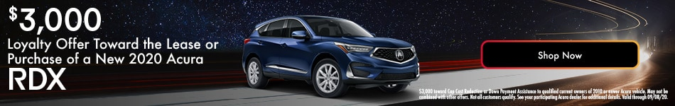 2020 Acura RDX Loyalty Offer - August 2020