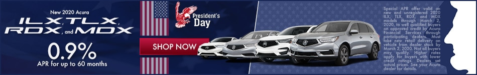 New 2020 Acura ILX, TLX, RDX, and MDX