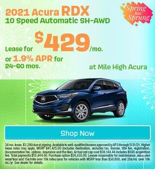 2021 Acura RDX 10 Speed Automatic SH-AWD - April