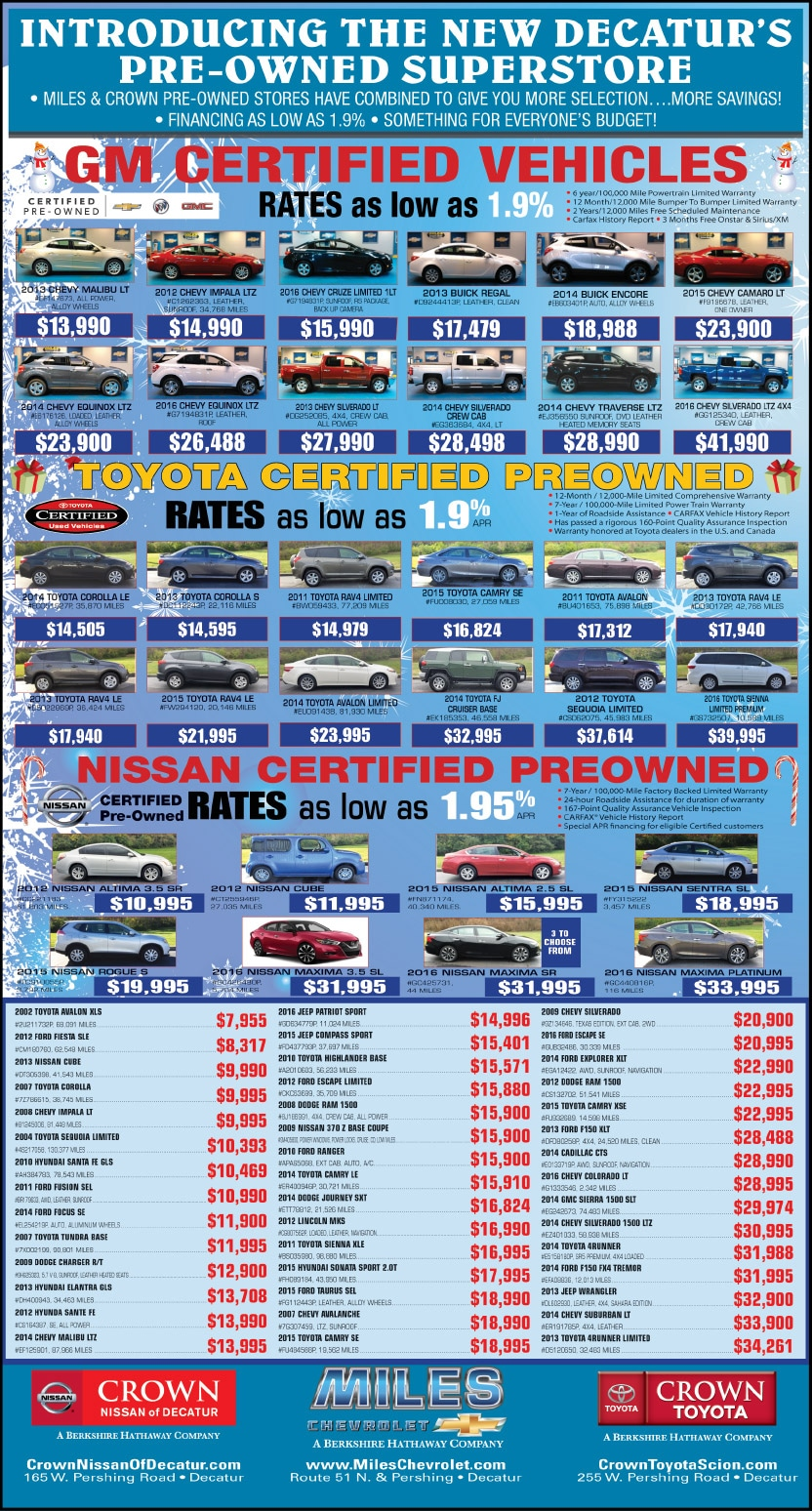 Crown Nissan of Decatur | Newspaper Sales Events | Decatur, IL
