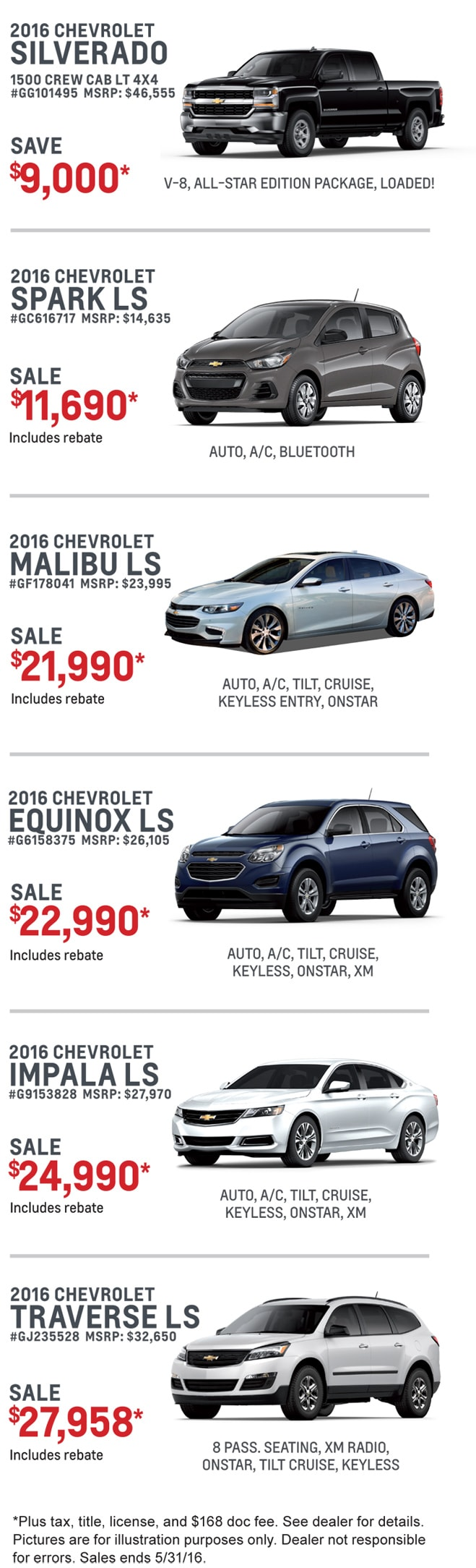 New Decatur Chevy Print Advertised Specials