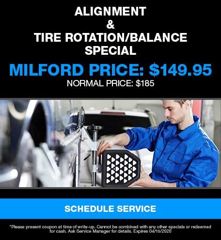 Alignment & Tire Rotation/Balance Special