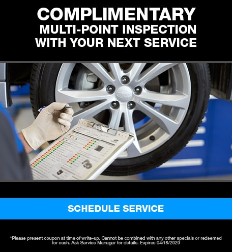 Complimentary Multi-Point Inspection With Your Next Service