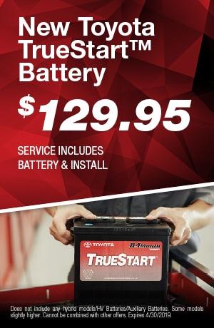 New Toyota TrueStart Battery