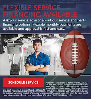 Flexible Service Financing Available