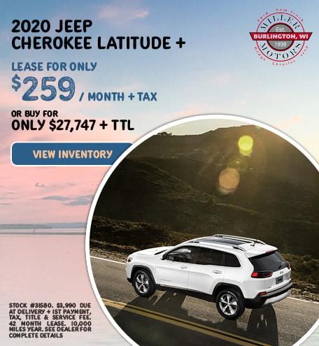 2020 Jeep Cherokee Latitude +