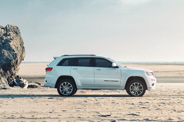 Jeep Grand Cherokee on the beach