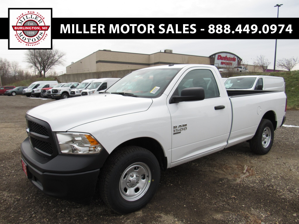 Featured new trucks, cars, and SUVs 2019 Ram 1500 CLASSIC TRADESMAN REGULAR CAB 4X4 8' BOX Regular Cab for sale near you in Burlington, WI
