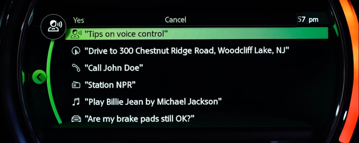 MINI Voice Commands