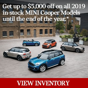 Get up to $5,000 off remaining 2019 MINI Models