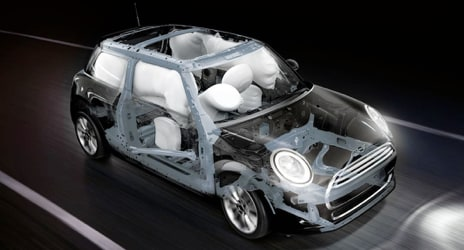 2019 MINI Cooper Hardtop equipped with multiple airbags for safety