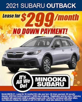 OUTBACK LEASE SPECIAL OCTOBER 2020