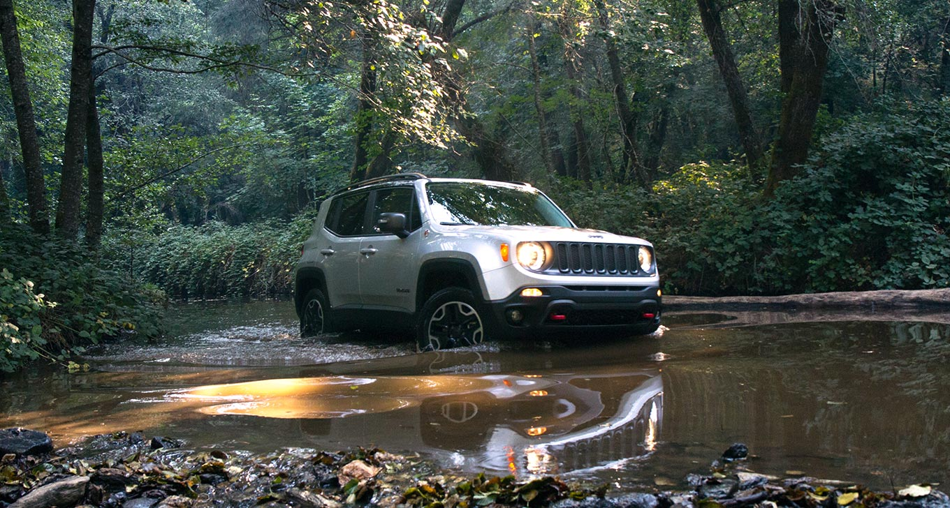 Jeep renegade going off-road