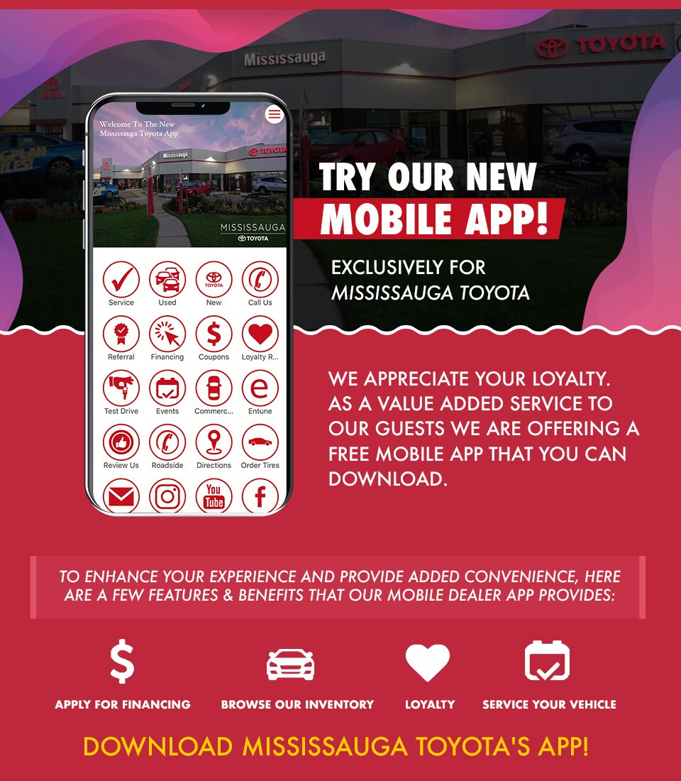 Mississauga Toyota's New App