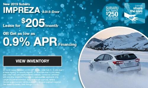 New 2019 Subaru Impreza 2.0i 5-Door