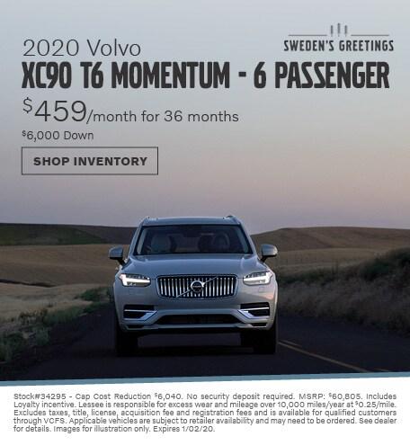 2020 Volvo XC90 Lease