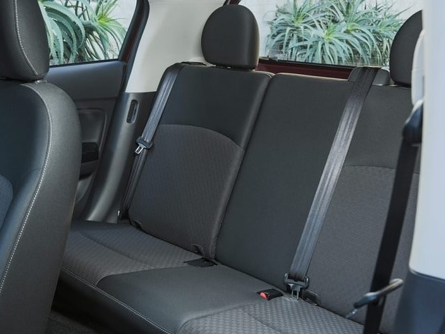 mitsubishi mirage rear seating capacity