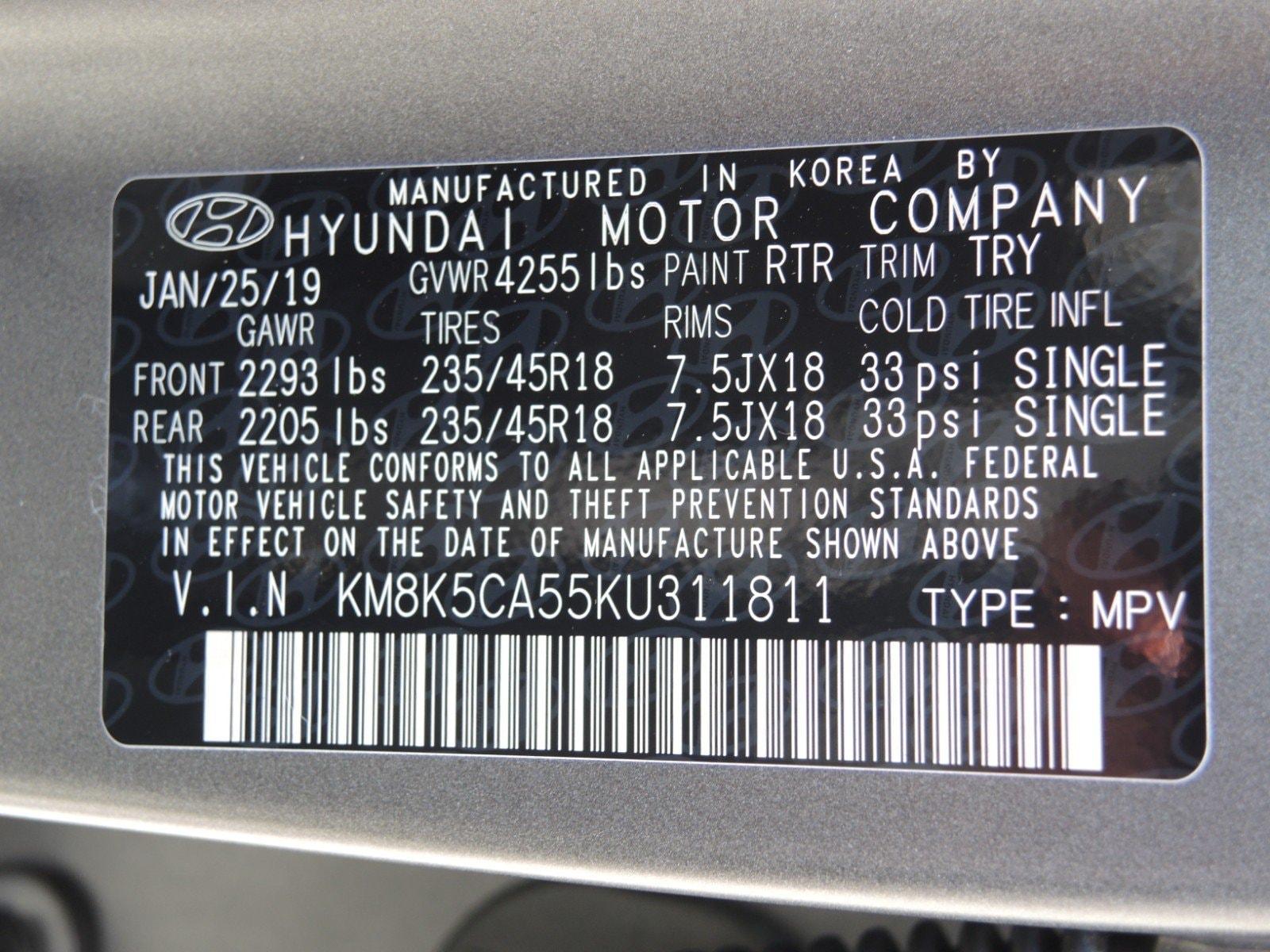 New 2019 Hyundai Kona For Sale New London CT   VIN:KM8K5CA55KU311811