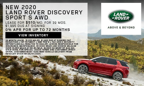 New 2020 Land Rover Discovery Sport S AWD