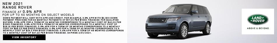 New 2021 Range Rover