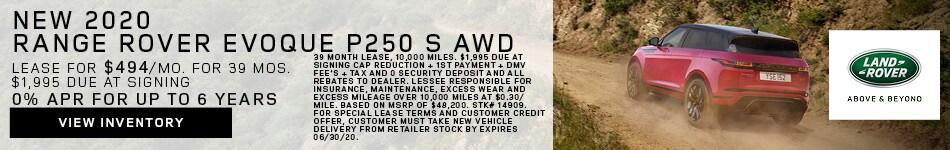 New 2020 Range Rover Evoque P250 S AWD