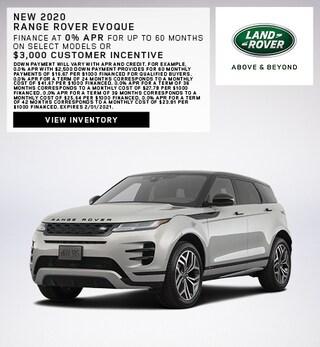New 2020 Range Rover Evoque