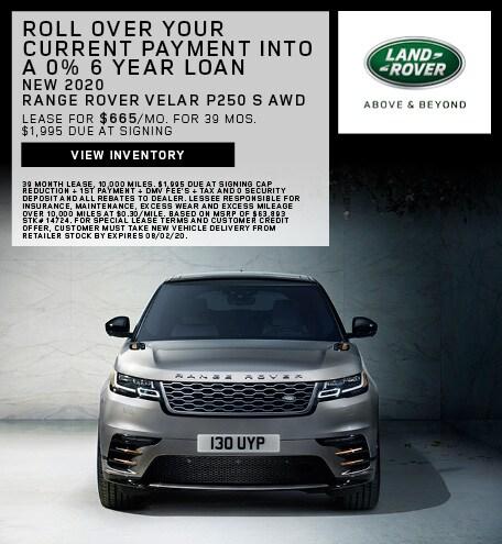 New 2020 Range Rover Velar P250 S AWD