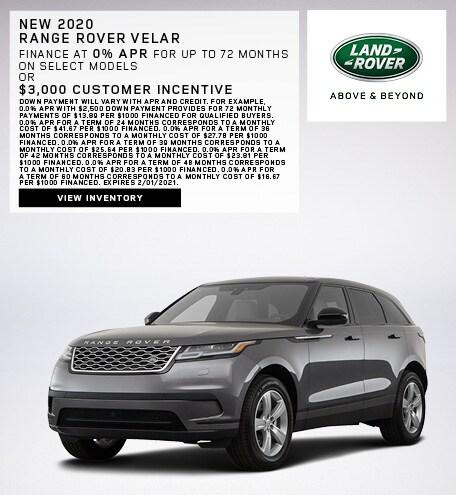 New 2020 Range Rover Velar