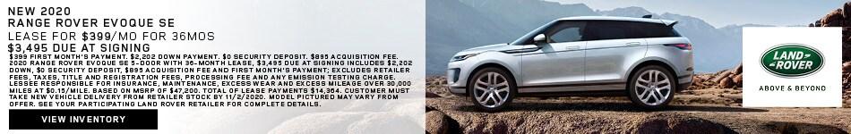 New 2020 Range Rover Evoque SE