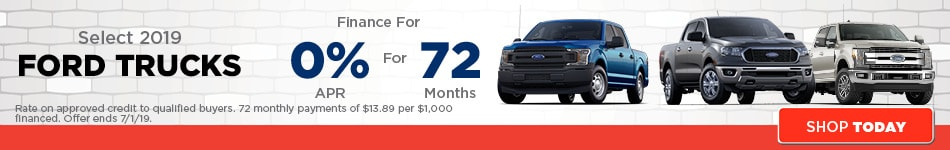 June | Select 2019 Ford Truck Models