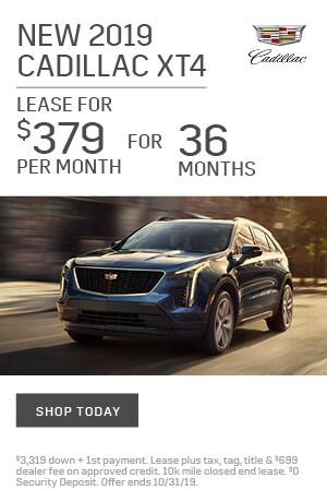 New 2019 Cadillac XT4