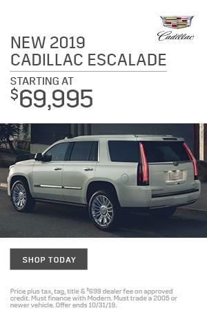 New 2019 Cadillac Escalade
