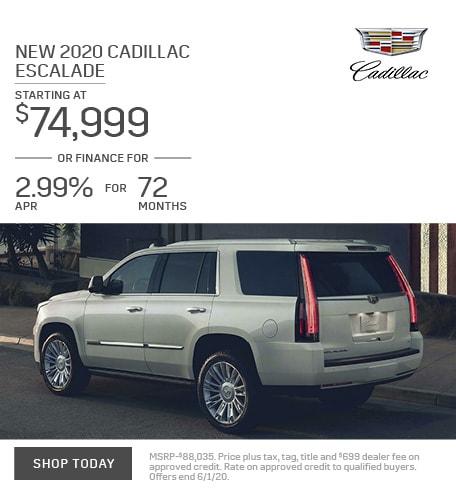 New 2020 Cadillac Escalade