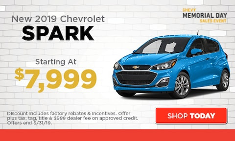 May | New 2019 Chevrolet Spark