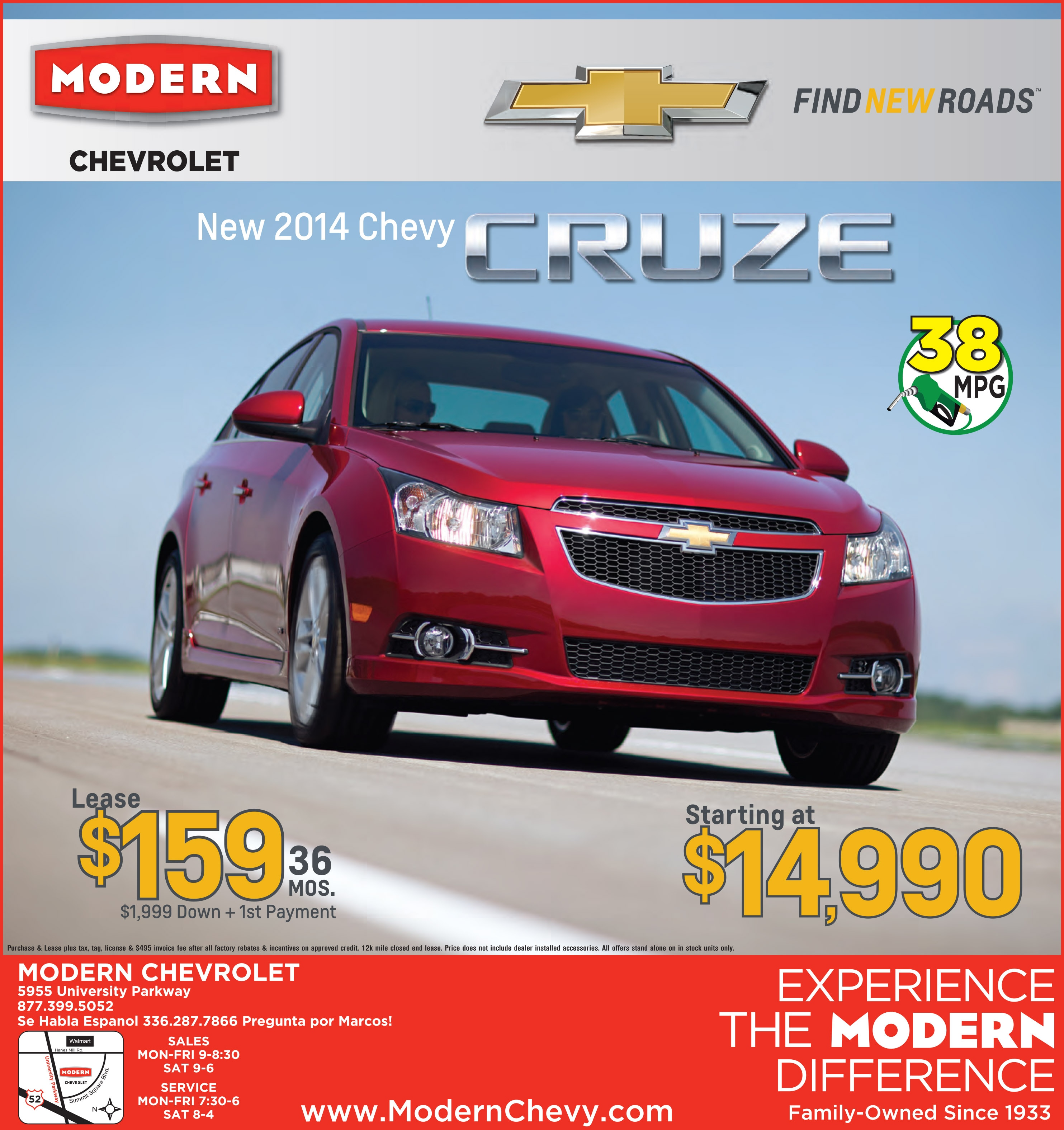 Modern Chevrolet | New Chevrolet dealership in Winston Salem, NC 27105