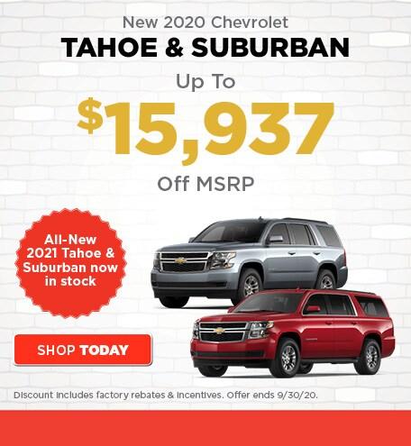 New 2020 Chevrolet Tahoe & Suburban