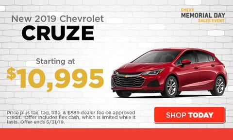 May | New 2019 Chevrolet Cruze