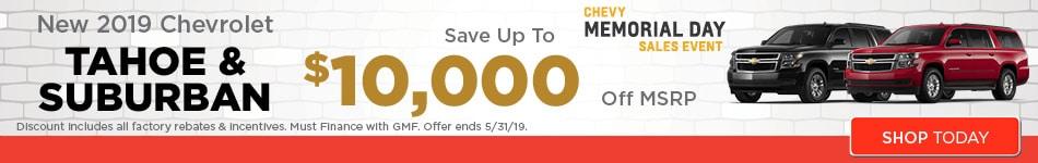 May   New 2019 Chevrolet Tahoe &  Suburban