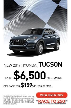 April | New 2019 Hyundai Tucson