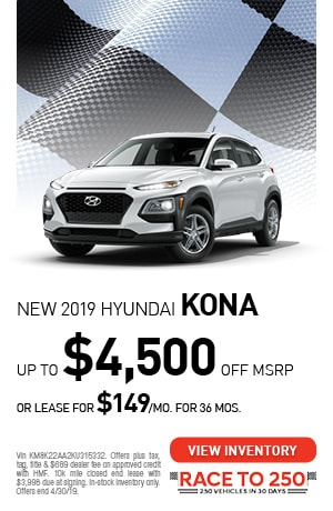 April | New 2019 Hyundai Kona