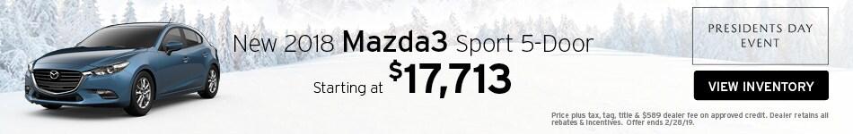 New 2018 Mazda3 5-Door