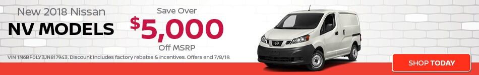 June | New 2018 Nissan NV Models