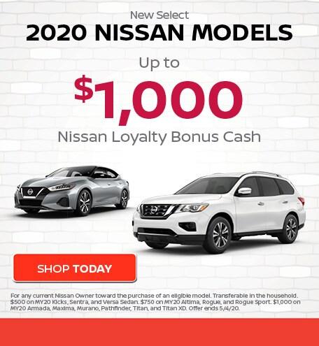 New Select 2020 Nissan Models
